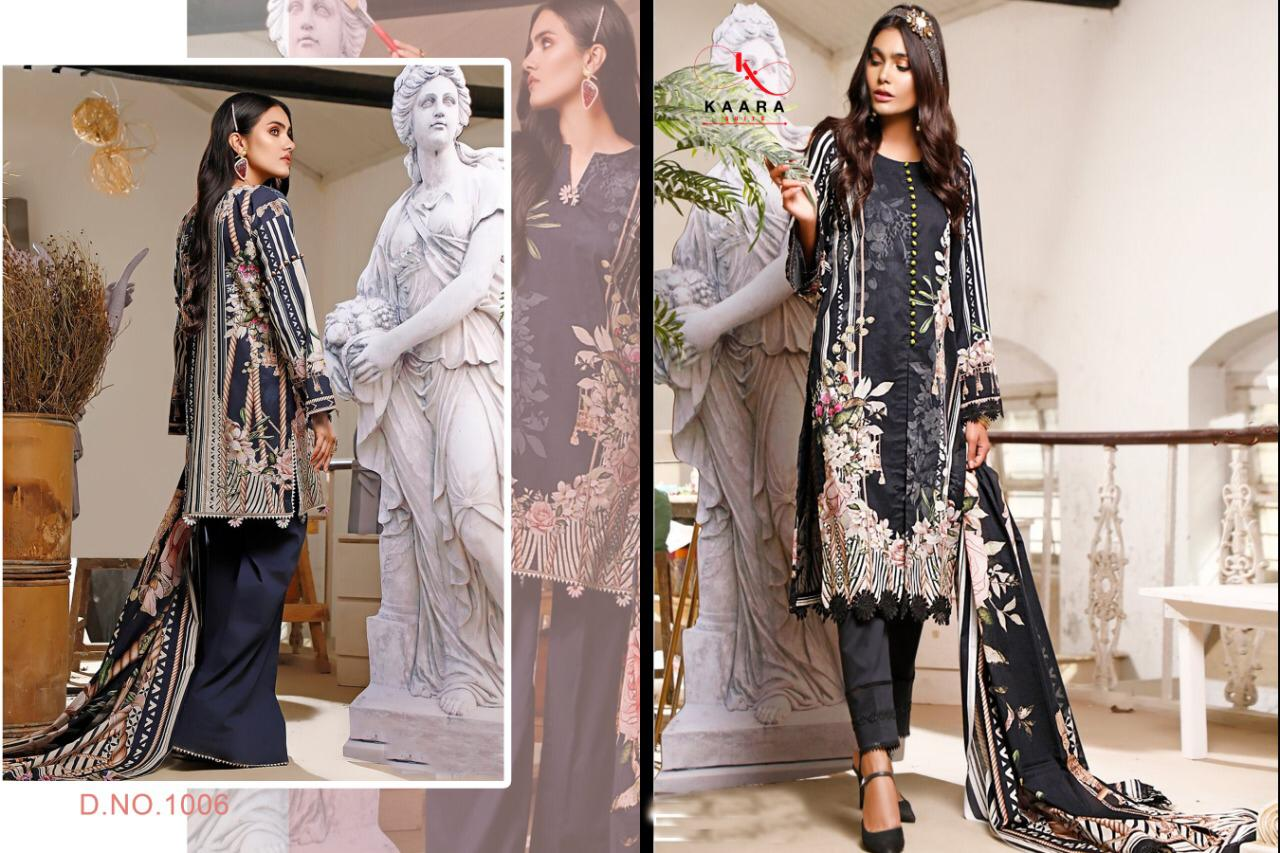 Kaara Suits M Print Vol 4 Designer Two Design Print With Four Design Embroidery Work Pashmina Suits Wholesale
