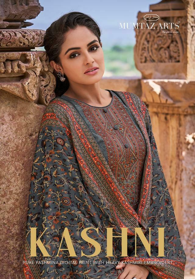 Mumtaz Kashni Pasmina Dobby Digital Print Kashmiri Embroidery Work Suits Wholesale