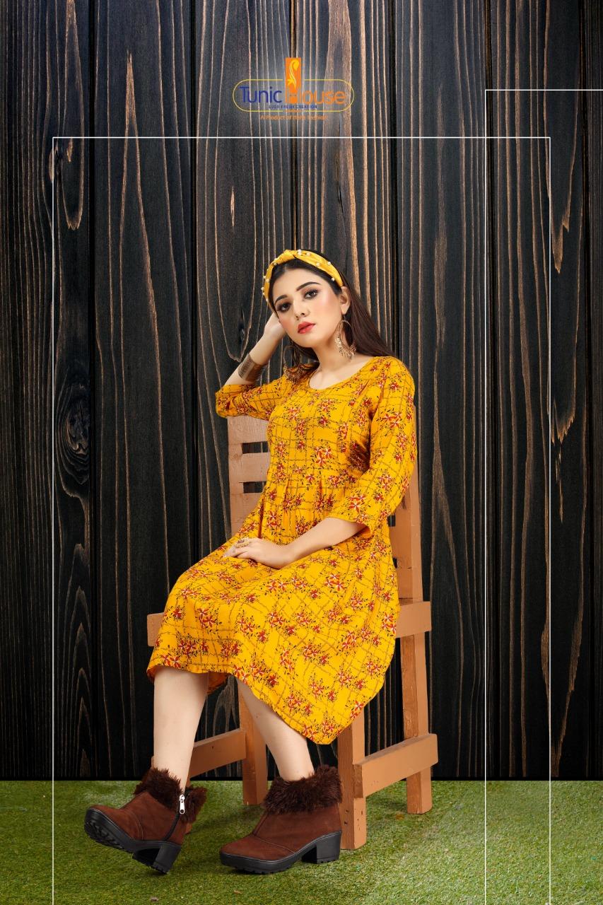Tunic House Neha Fashion Tip Top Feeding Top Designer Rayon Printed Tops Wholesale