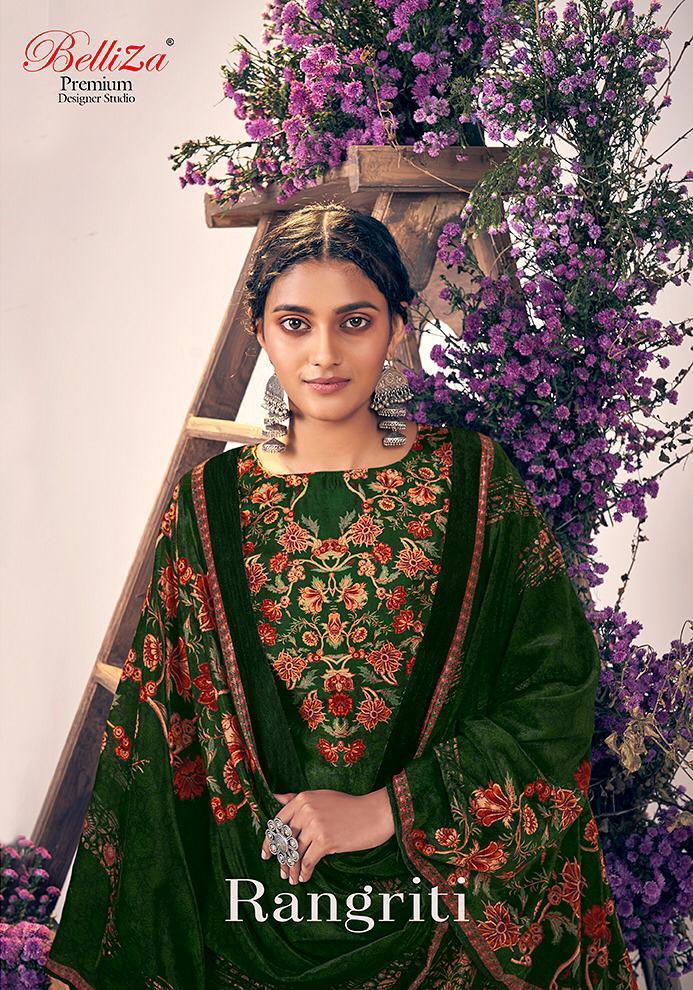 Belliza Rangriti Designer Pure Velvet With Original Digital Printed Suits Wholesale