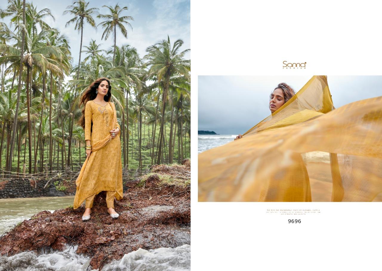 Sanna Mousha Designer Pashmina With Digital Print And Handwork Suits Wholesale