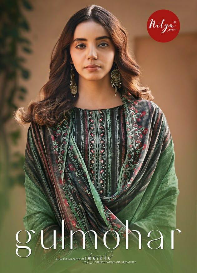 Lt Nitya Gulmohar Designer Pashmina Digital Print With Handwork Suits Wholesale