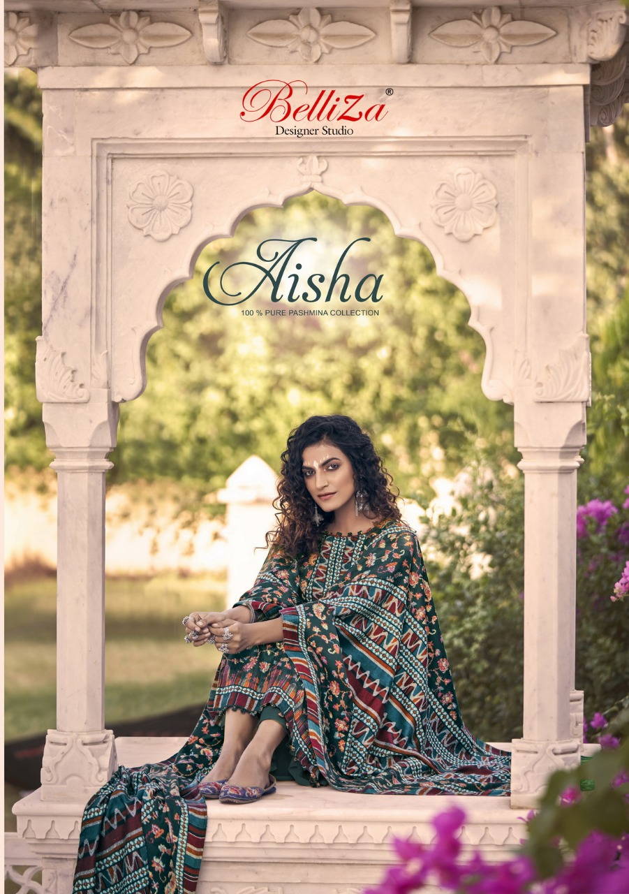 Belliza Aisha Vol 2 Designer Pashmina Digital Printed Suits Wholesale