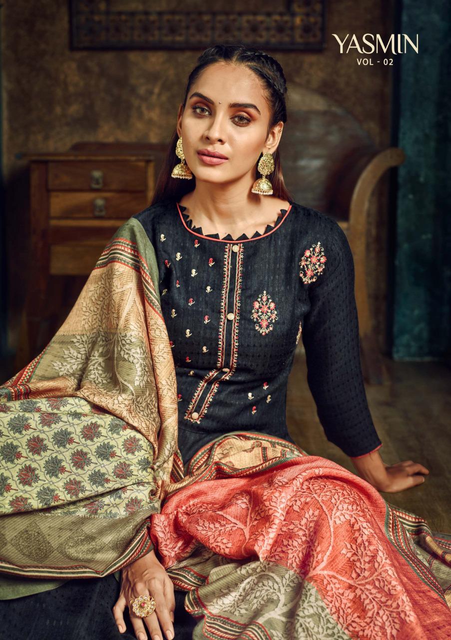 Sargam Prints Yasmin Vol 2 Deisgner Pashmina With Designer Work Suits Wholesale