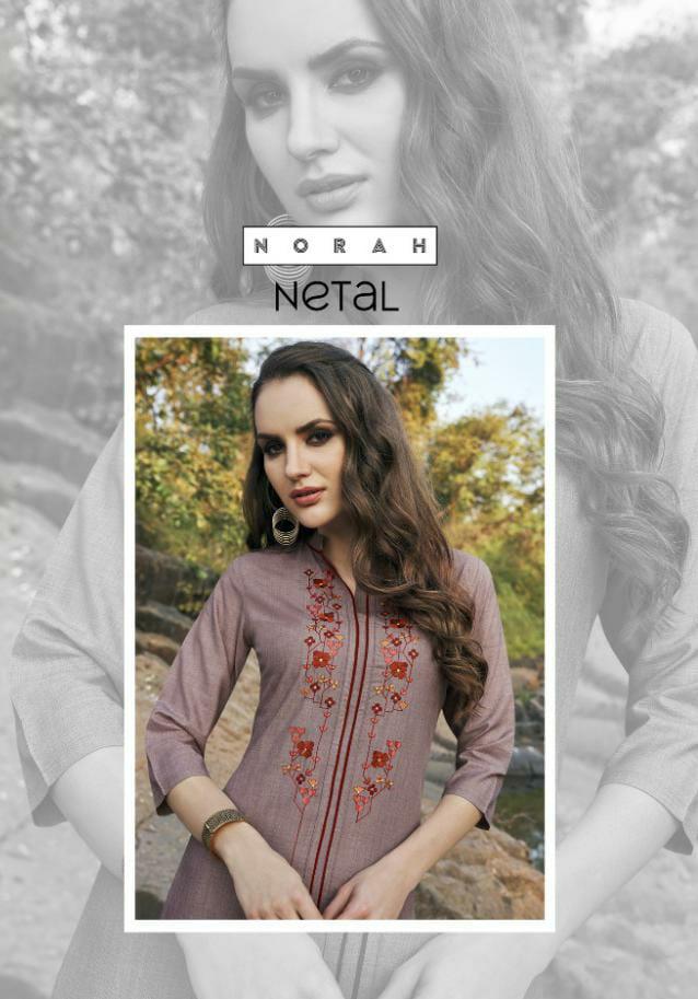 Tunic House Netal Designer Soft Cotton With Embroidery Work Kurti Wholesale
