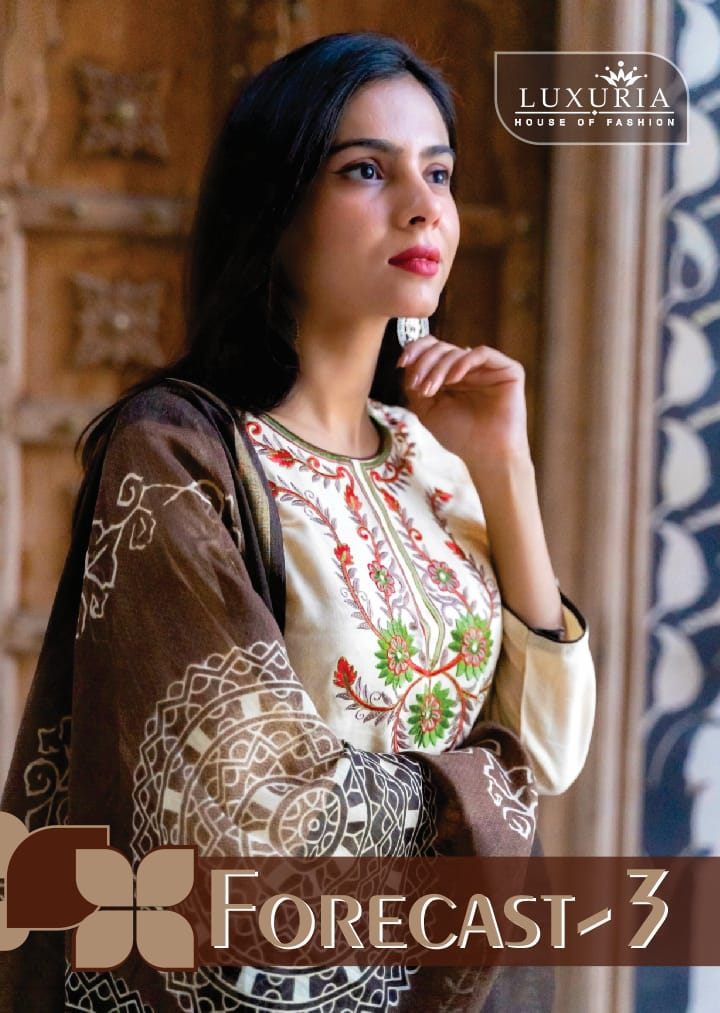 Luxuria Forecast 3 Designer Rayon Embroidery Kurti With Linen Dupatta Wholesale