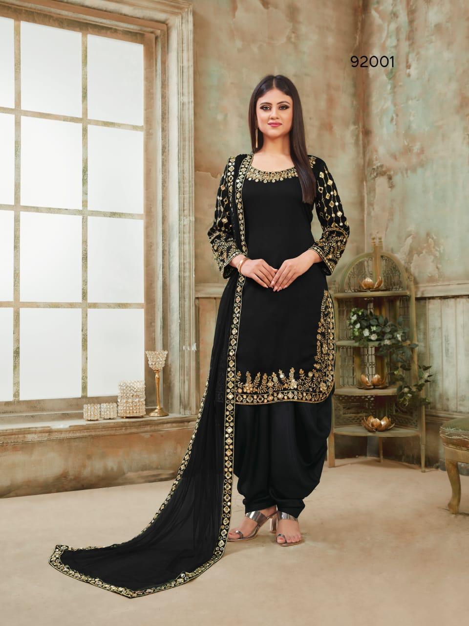 Twisha 92001 Designer Silk Santoon With Mirror Work Suits In Single