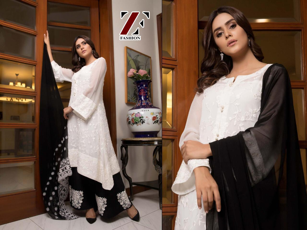 Black Beauty Pure Cambric Cotton With Full Self Embroidery Work Suit Single