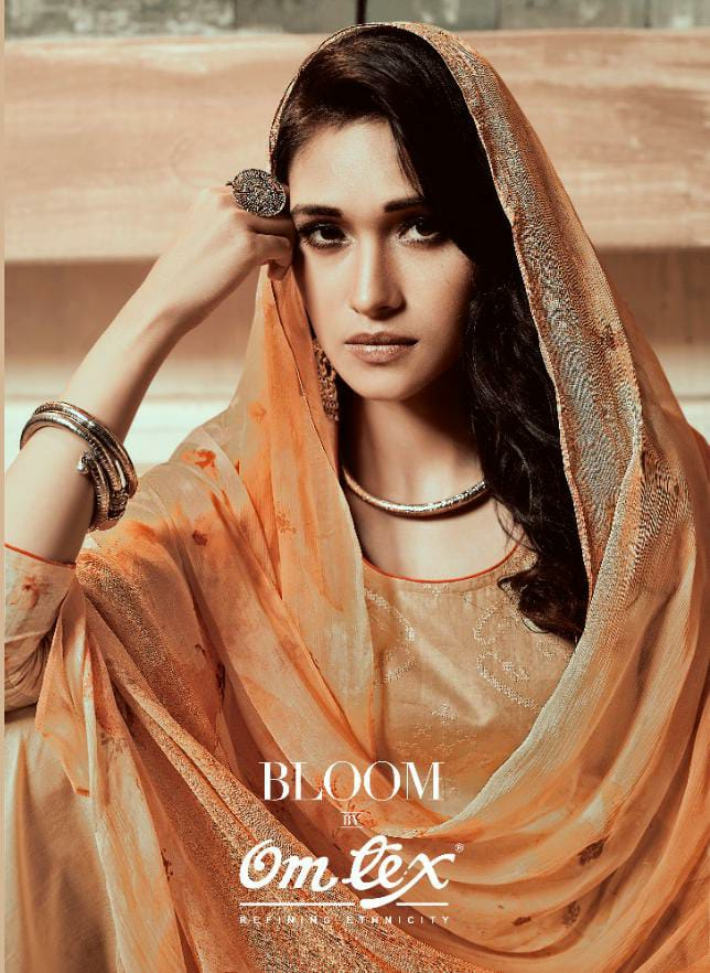 Omtex Bloom Designer Bliss Cotton Digital Printed Suits Wholesale