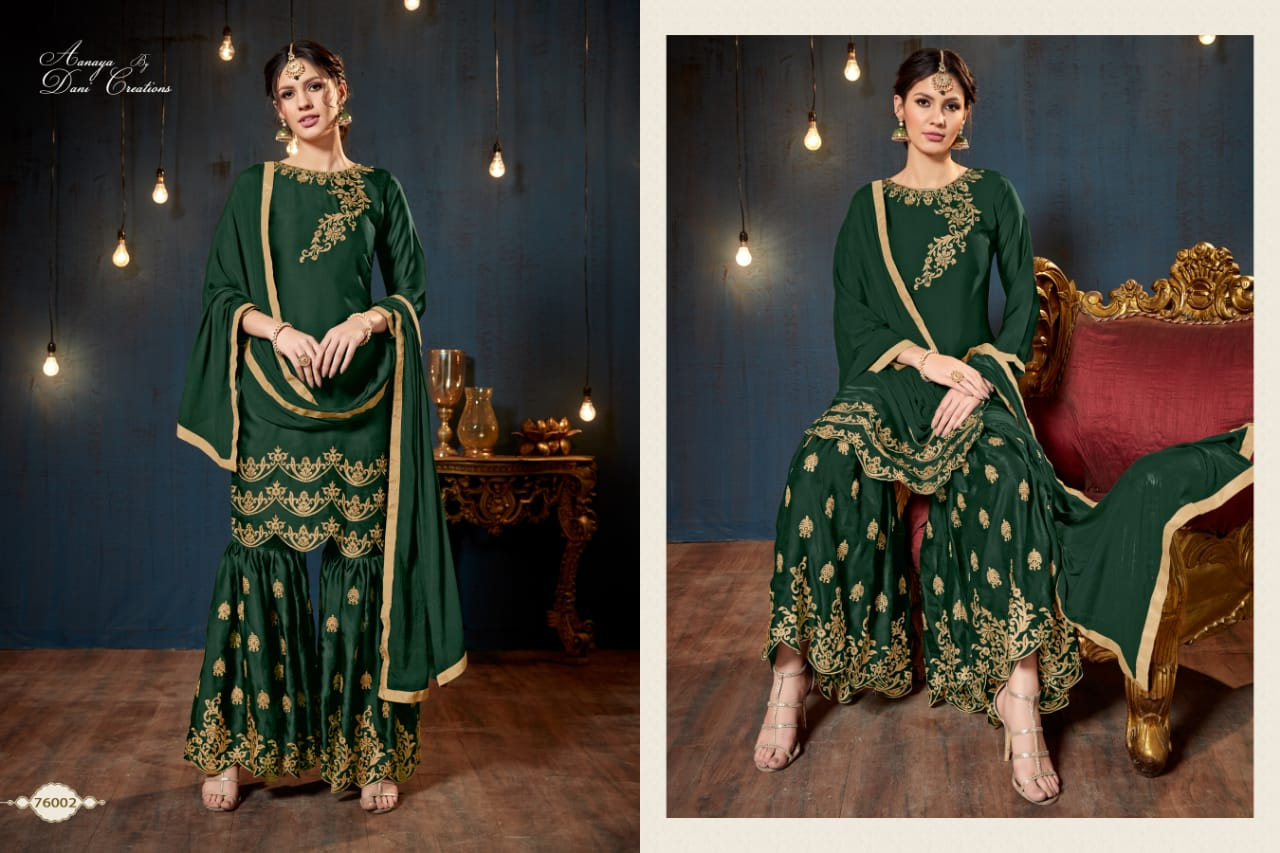 Twisha 76002 Designer Georgette With Embroidery Work Suits Wholesale