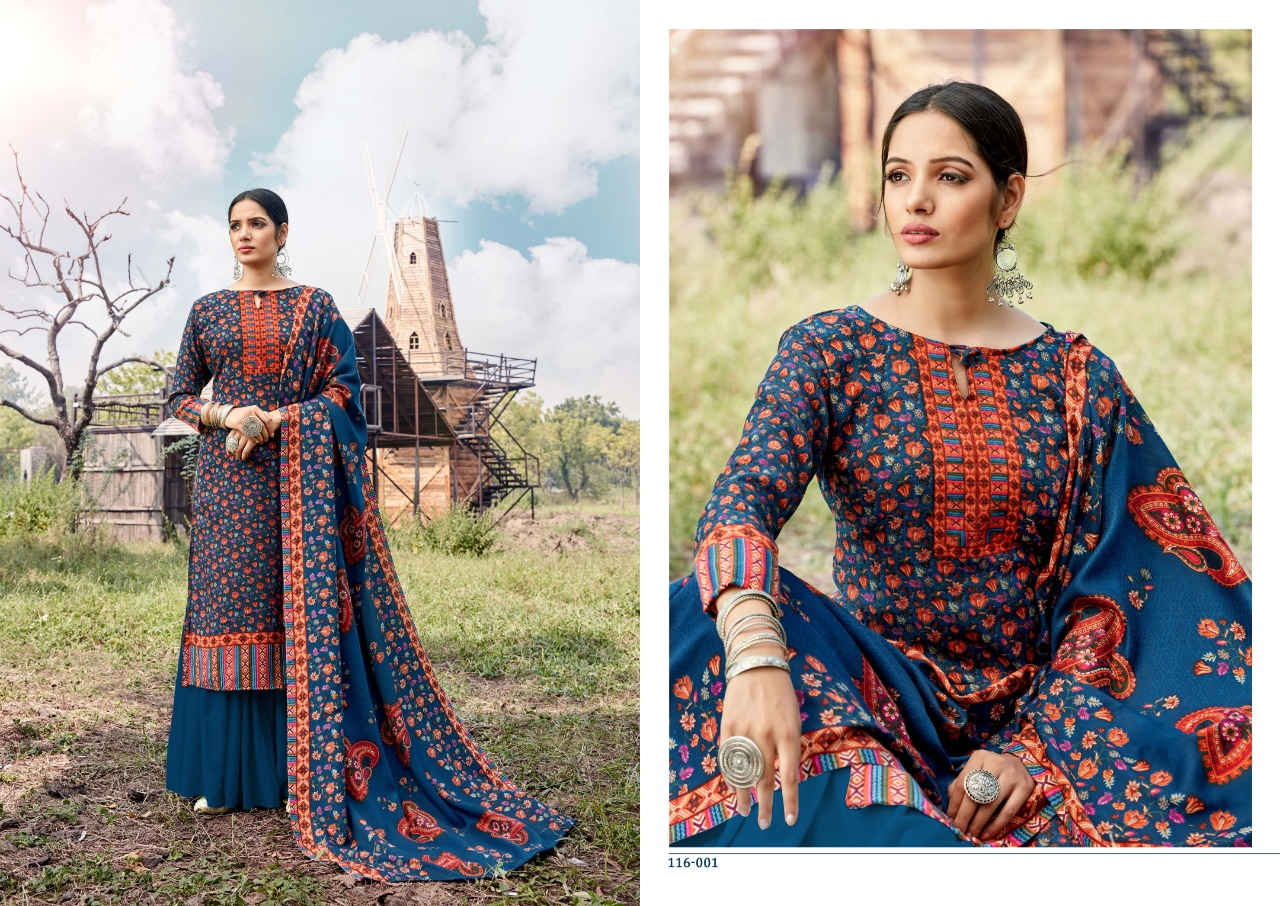 Lavina Vol 116 Designer Pashmina Dobby Print Suits Wholesale