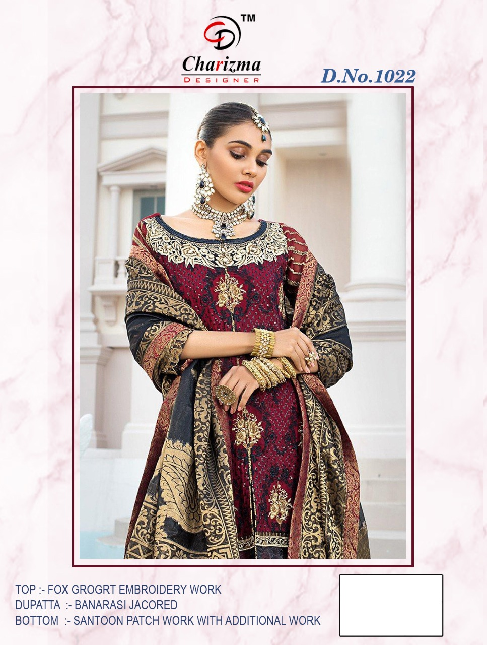 Charizma Designer Heavy Fox Georgette With Embroidery Work Suits In Single