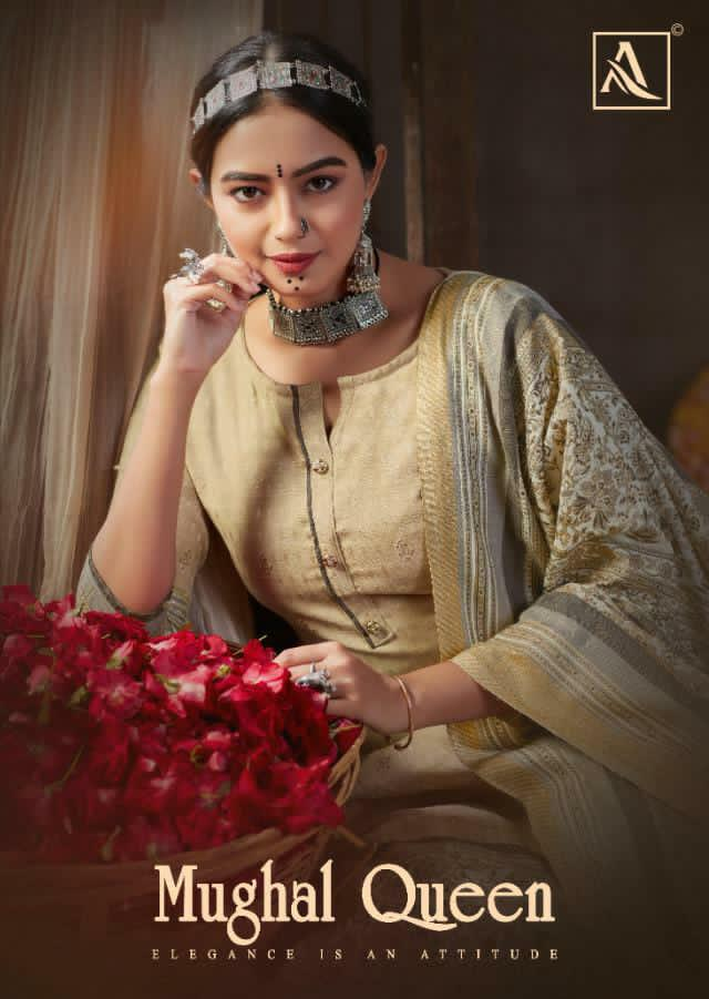 Alok Suits Mughal Queen Vol 2 Designer Pashmina Digital Gold Printed Suits Wholesale