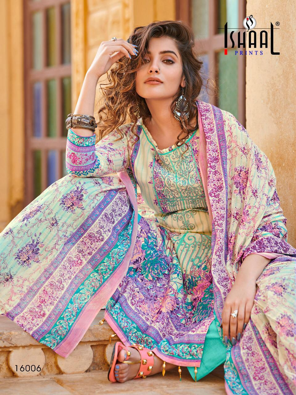 Ishaal Print Gulmohar Vol 16 Designer Lawn Digital Printed Low Range Suits Wholesale