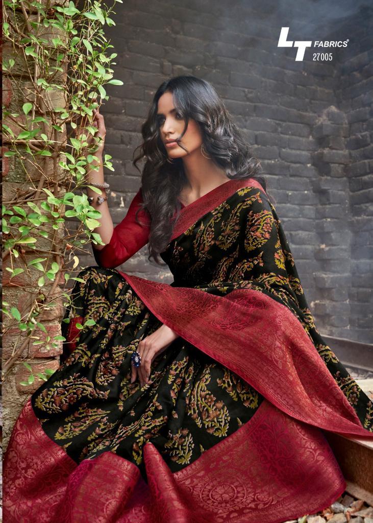 Lt Fashion Prerna Designer Copper Zari Work Sarees Wholesale