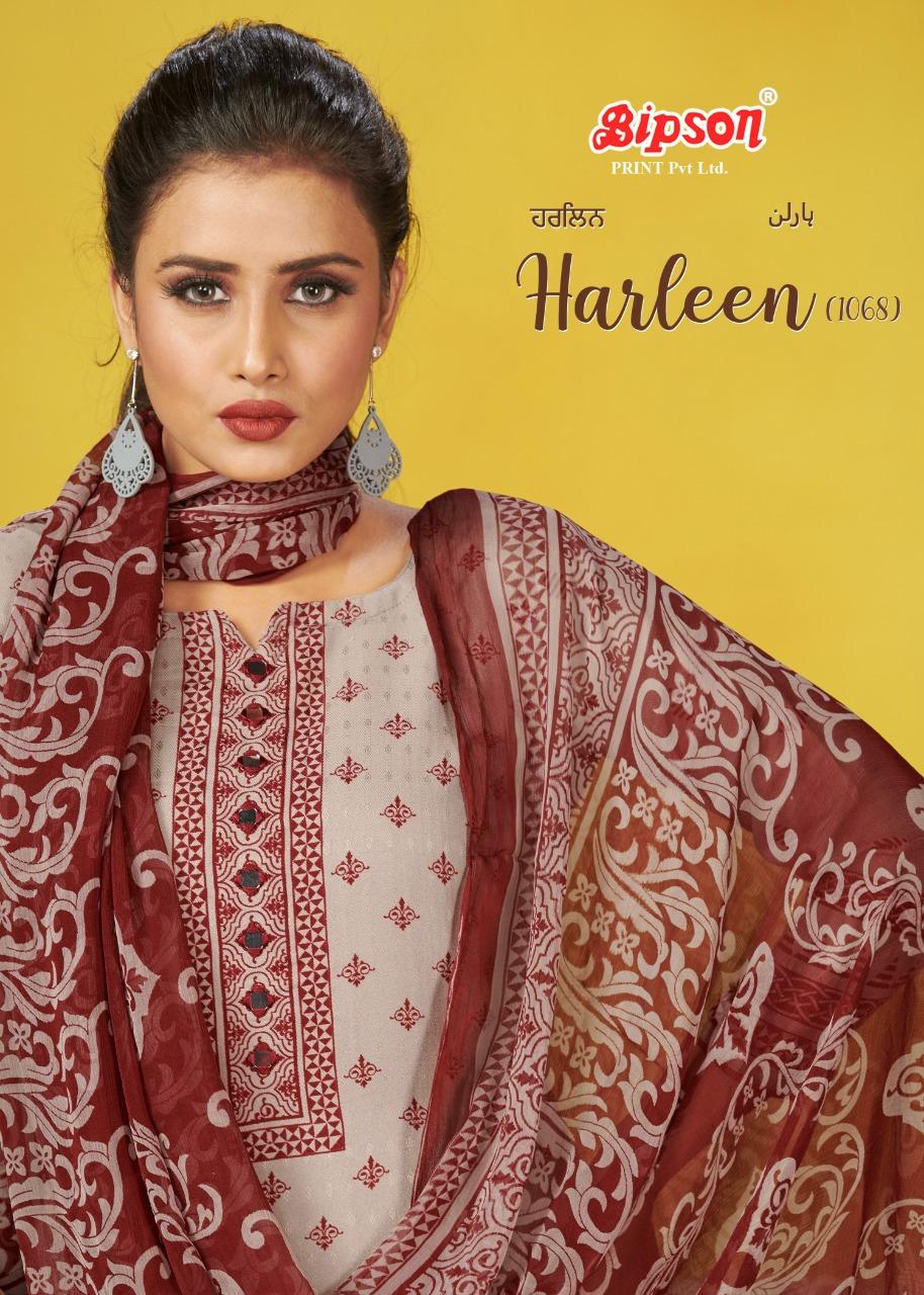 Bipson Harleen 1068 Designer Pure Pashmina Printed Suits Wholesale