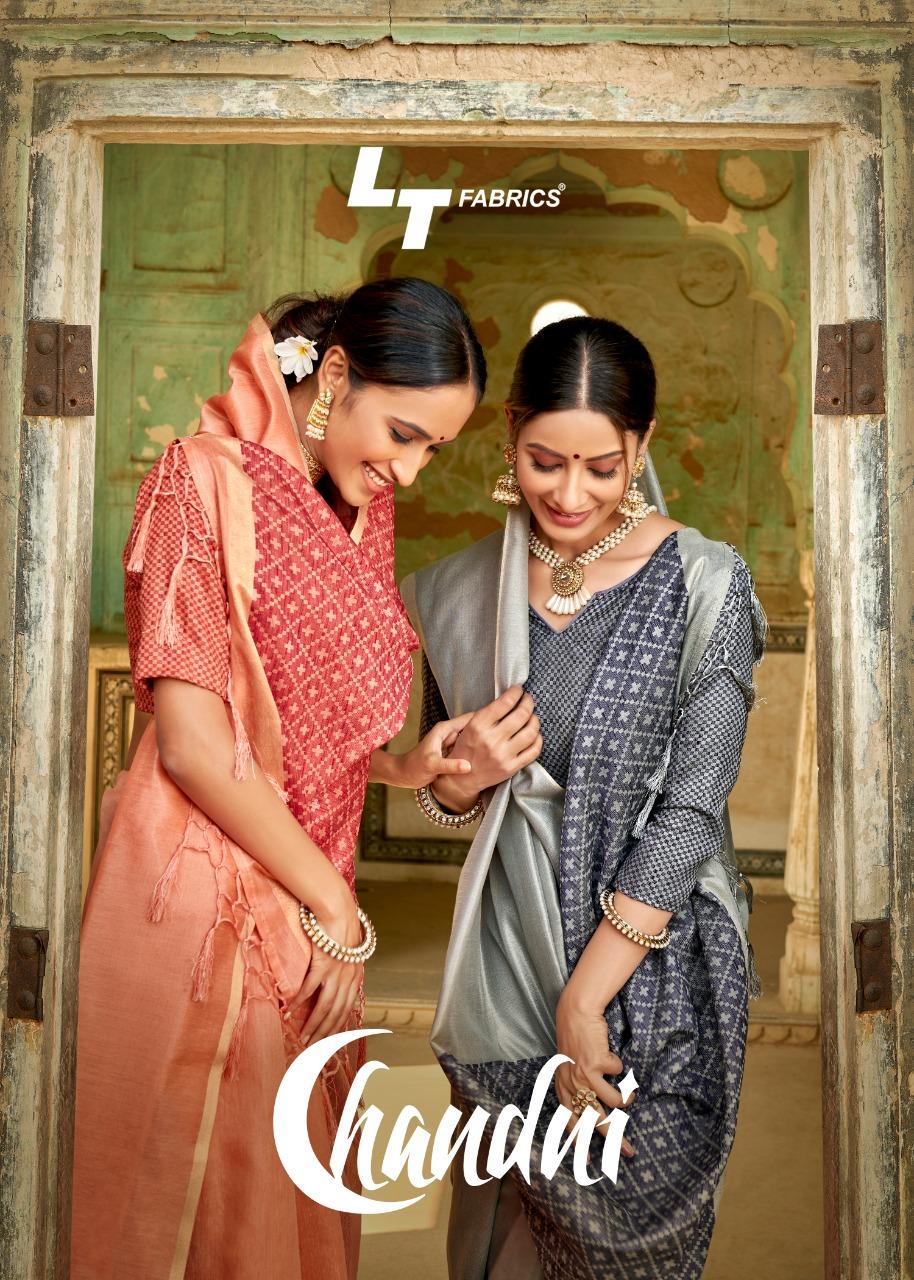 Lt Fashion Chandani Designer Silk Cotton Sarees Wholesale