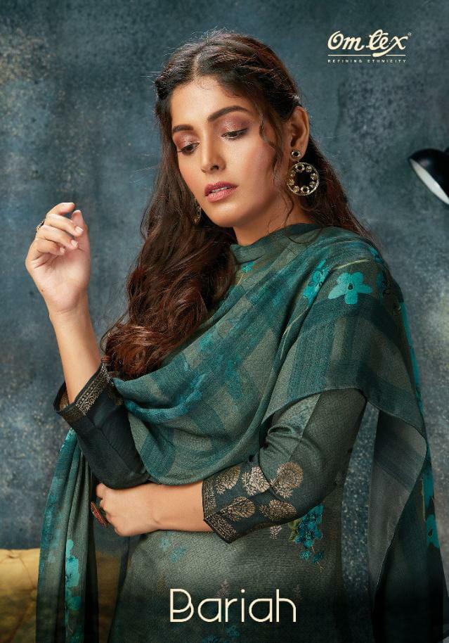 Omtex Bariah Designer Banarasi Jacquard Digital Print With Handwork Suits Wholesale