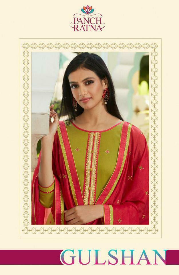 Kessi Panchratan Gulshan Designer Jam Silk Work With Diamond Suits Wholesale