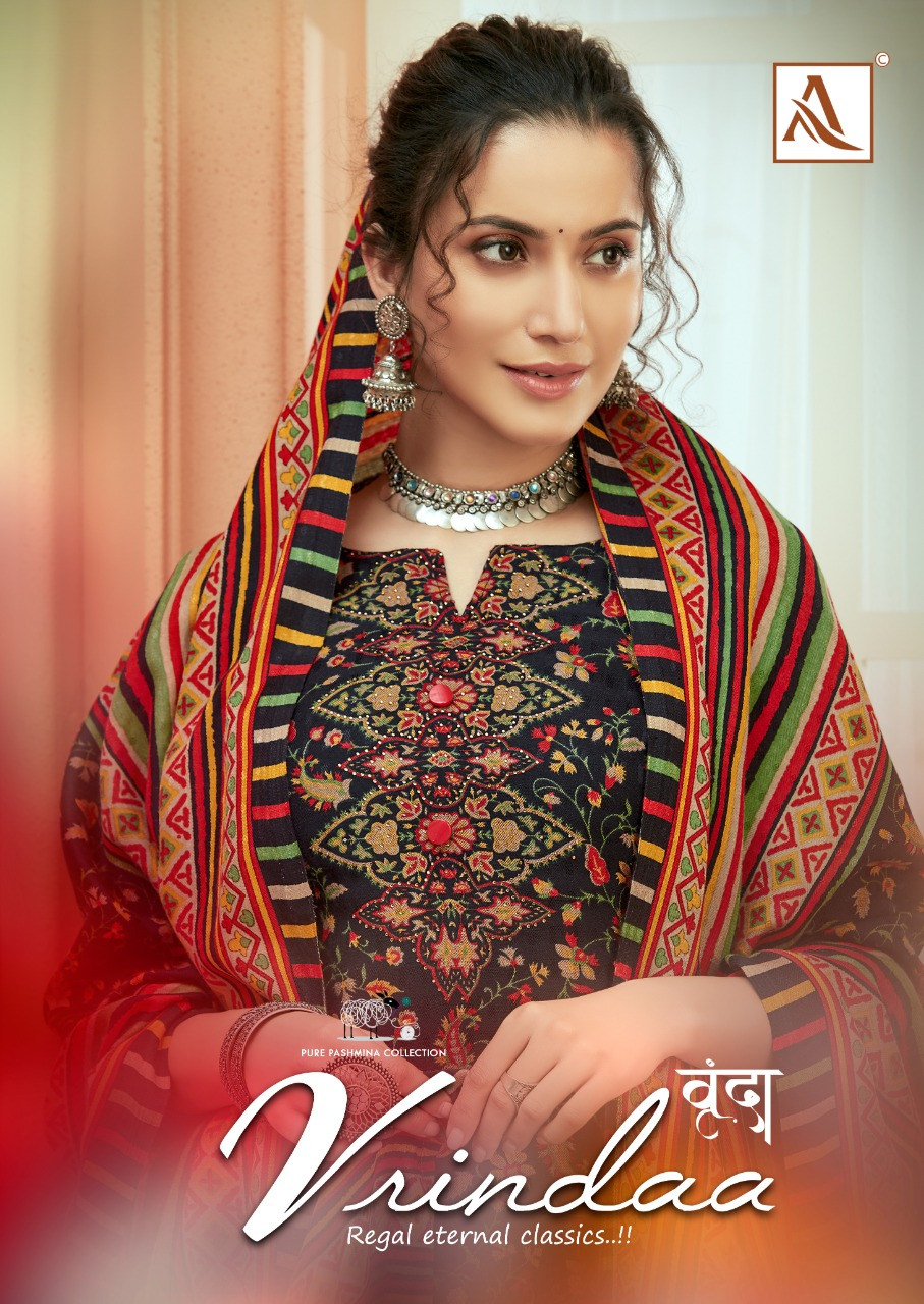 Alok Suit Vrinda Designer Pashmina Digital Print With Swarovski Work Suits Wholesale