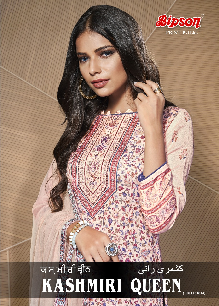 Bipson Kashmiri Queen 1011-1014 Designer Woolen Pashmina Digital Printed Suits