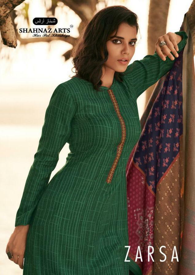 Shahnaz Arts Zarsha Pashmina Print With Self Embroidery Work Suits Wholesale