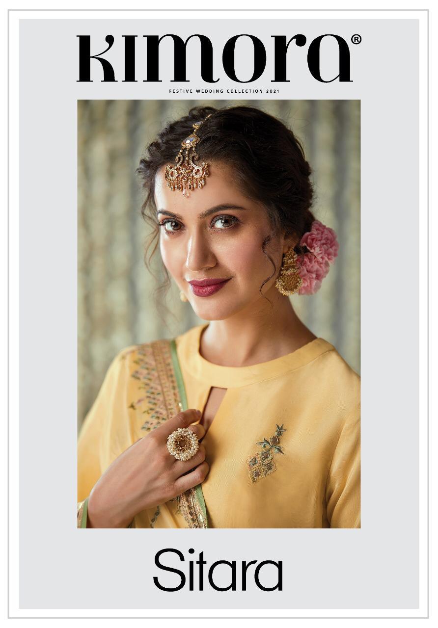 Kimora Heer Sitara Designer Dola Silk With Embroidery Work With All Over Buttis Wholesale