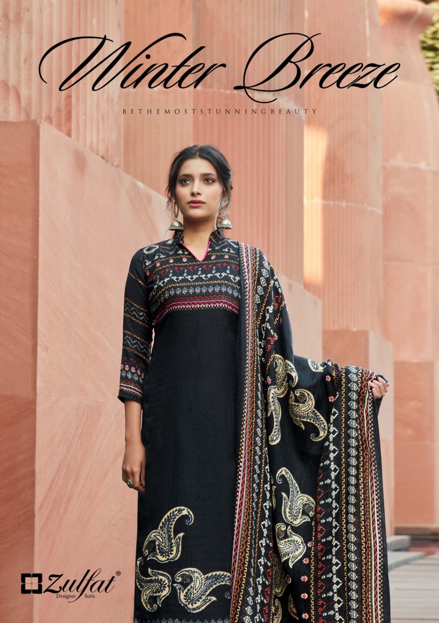 Zulfat Designer Winter Breeze Vol 2 Designer Pure Pashmina Digital Printed Suits Wholesale