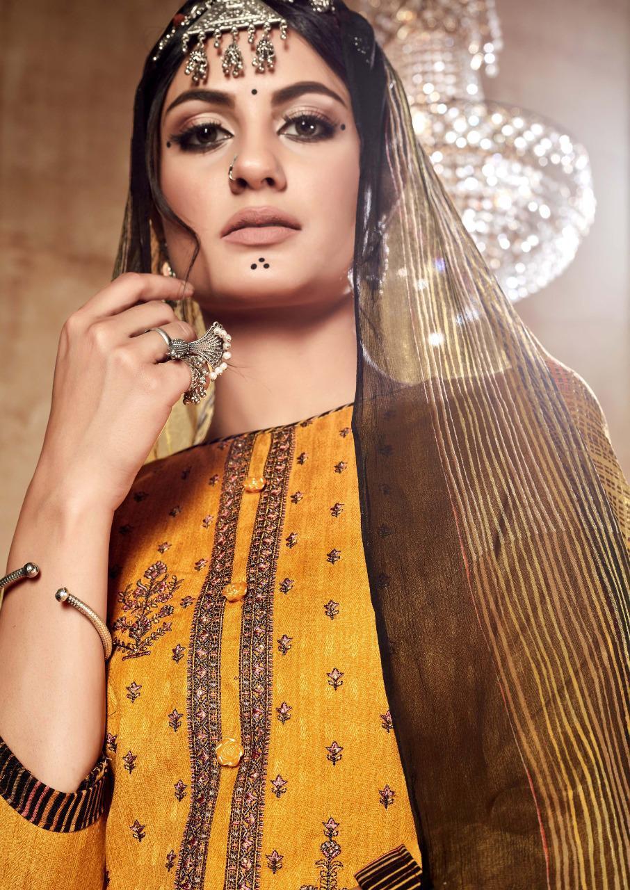 Sargam Prints Azira Designer Pashmina Print With Nagative Embroidery Work Suits Wholesale