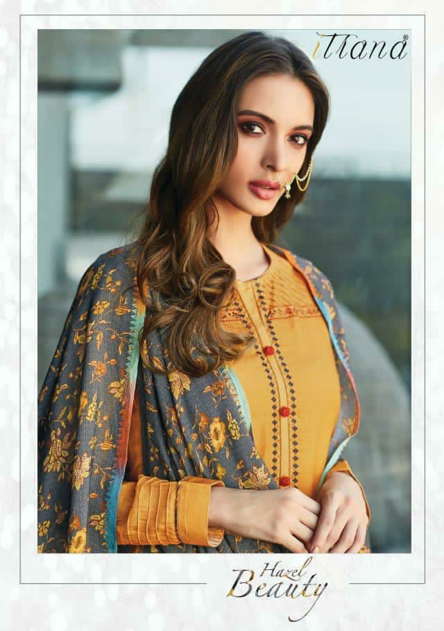 Itrana Hazel Beauty Designer Pashmina Print With Embroidery Work Winter Wear Suits Wholesale
