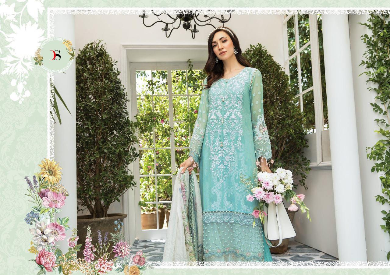 Deepsy Mariya B Pashmina Designer Pashmina With Embroidery Patches Pakistani Pettern Suits Wholesale