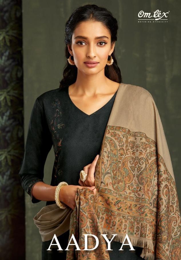 Omtex Aadya Designer Pashmina With Pashmina Woven Shawl Dupatta Suits Wholesale