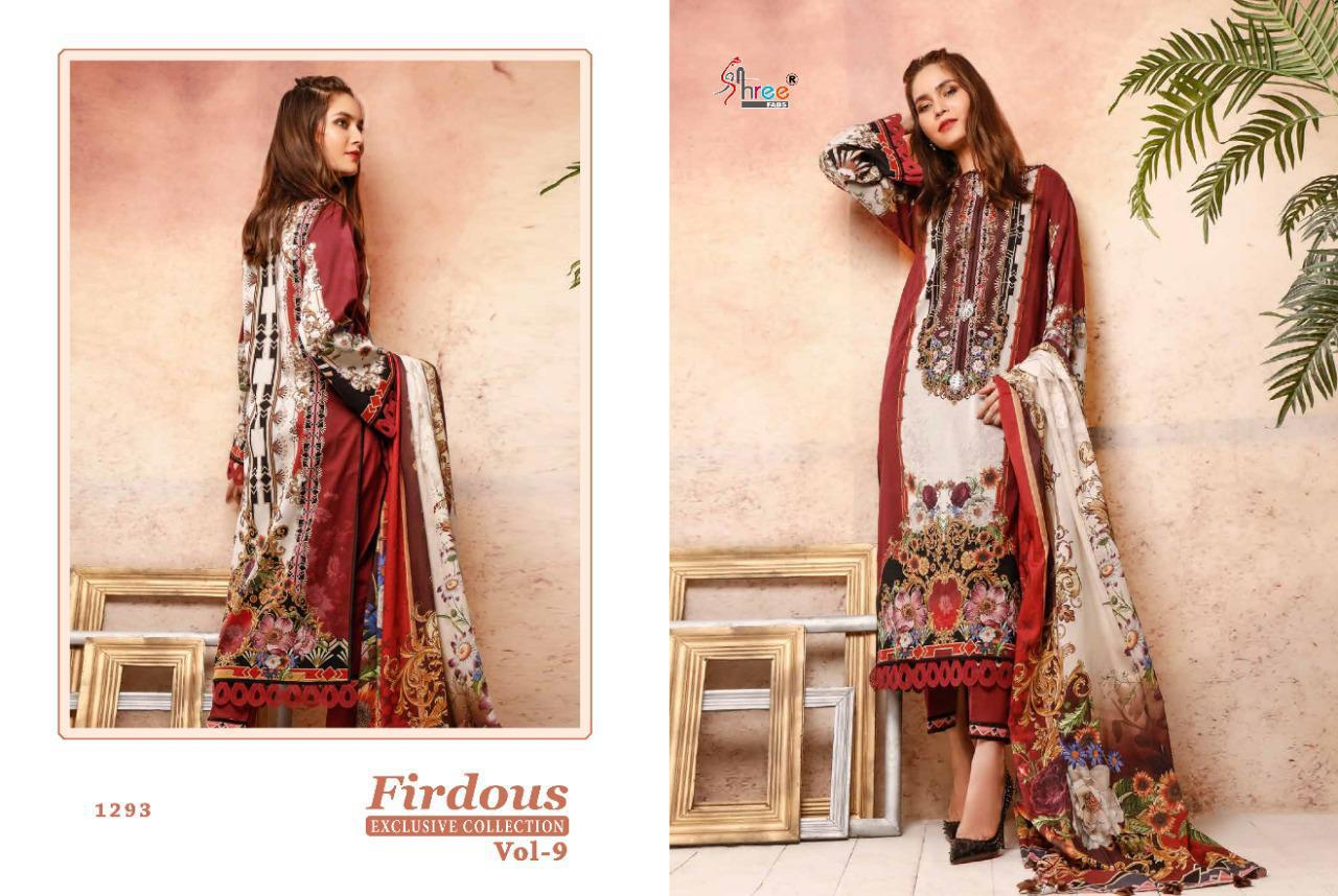 Shree Fab Exclusive Collection Vol 9 Designer Pakistani Pettern With Embroidery Patches Suits Wholesale