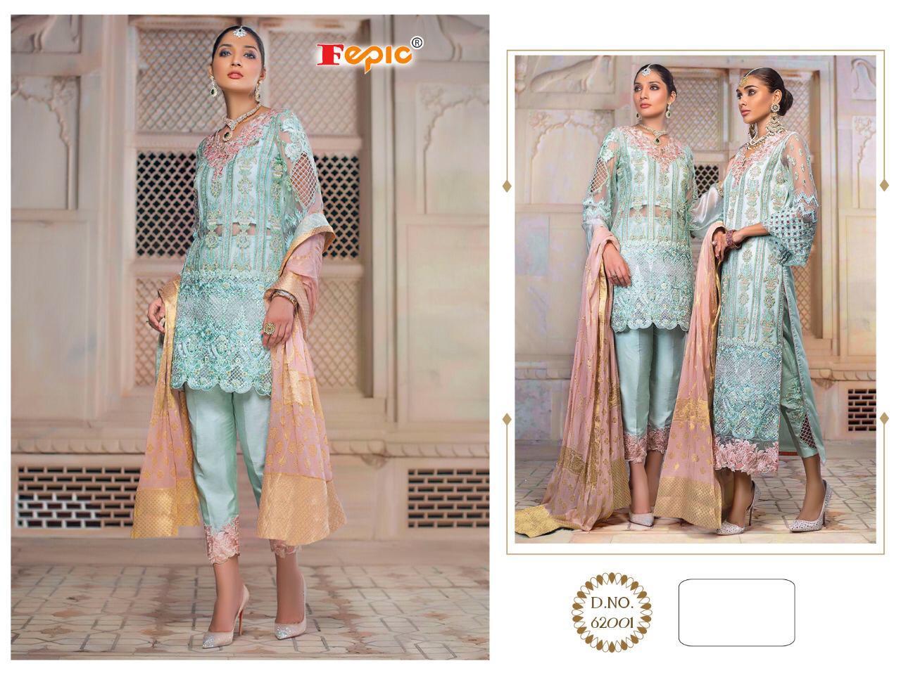 Fepic Designer Pakistani Pettern Partywear Suits In Single Ready Stock