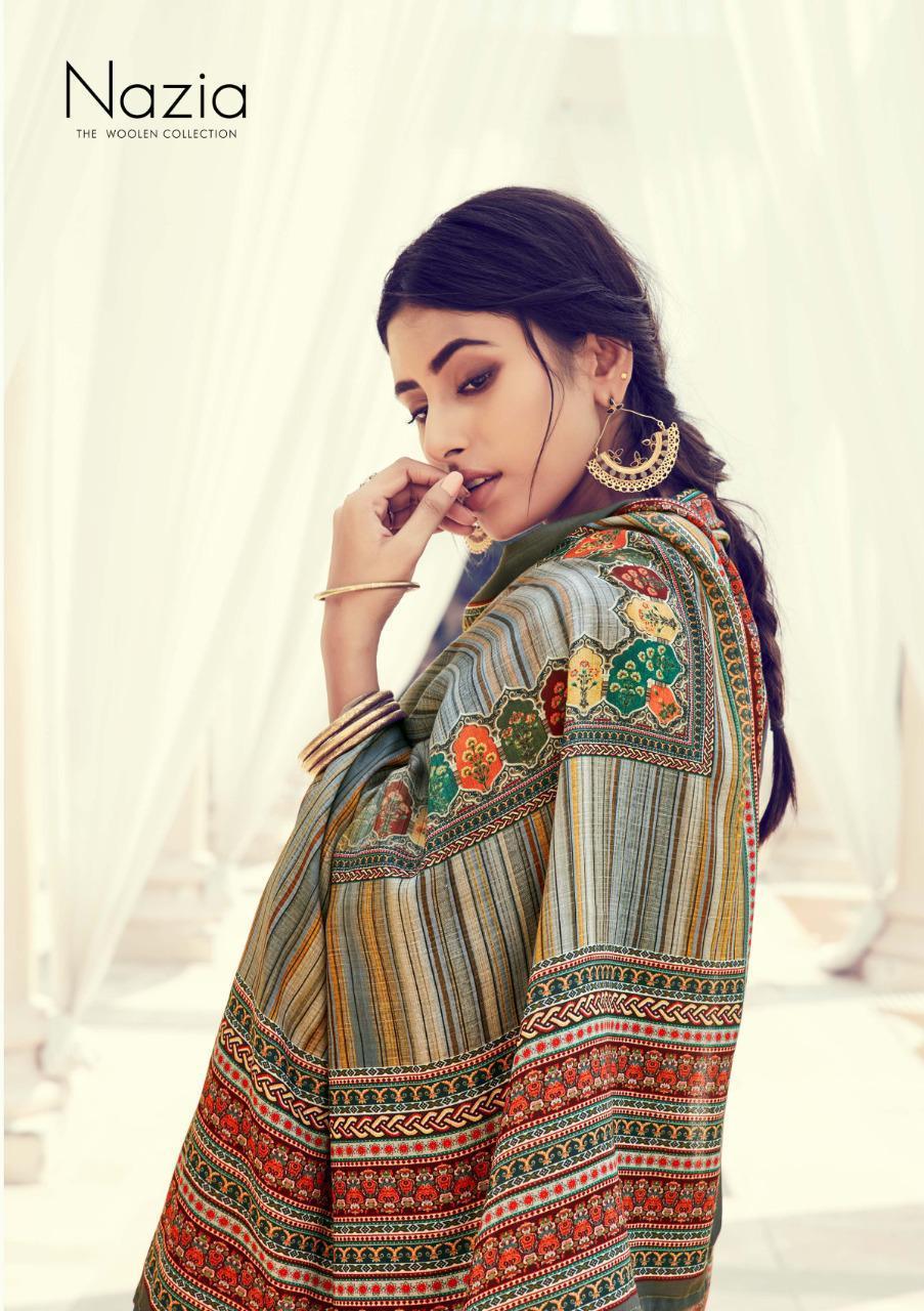 Sargam Prints Nazia Designer Pashmina Digital Foil Print With Swarovski Work Suits Wholesale