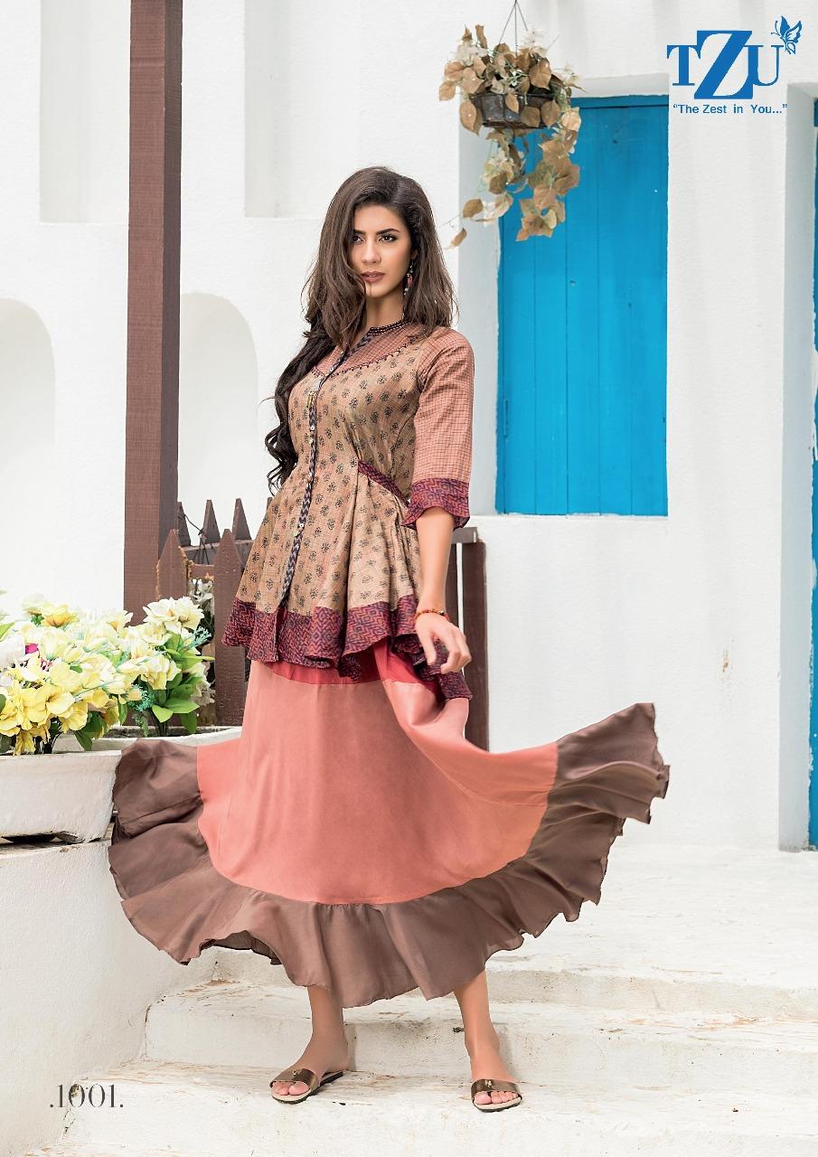 Tzu Lifestyle Rubina Designer Chanderi Silk Muslin Silk  Handwork Or Embroidery Work Occasional Wear Outfits Wholesale