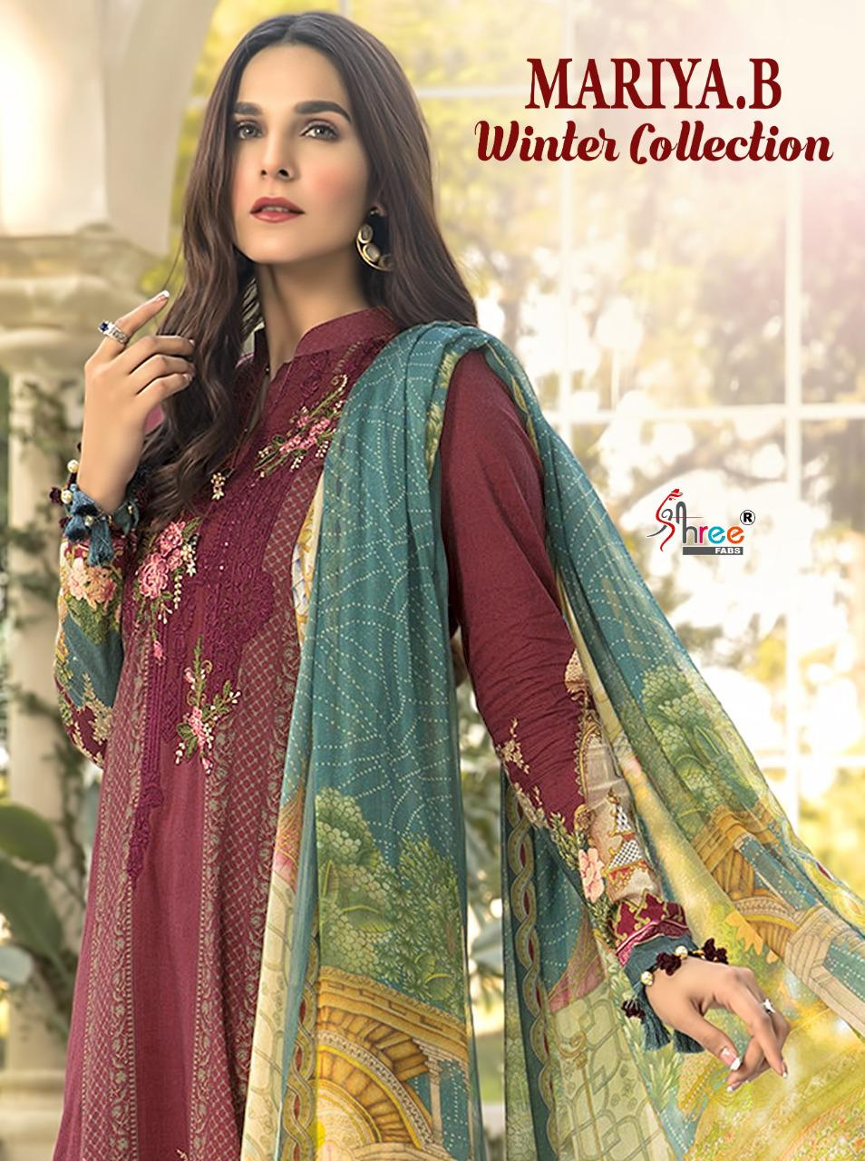 Shree Fab Mariya B Winter Collection Designer Pashmina Print With Exclusive Work Suits Wholesale