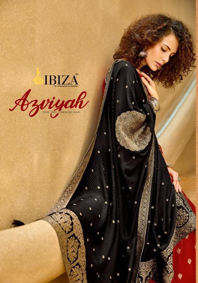 Ibiza Azviyah Designer Pashmina Jacquard Suits Wholesale