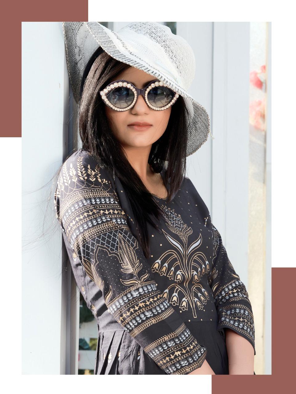 Rangjyot Shehnaaz Vol 4 Designer Heavy Rayon Kurti In Wholesale