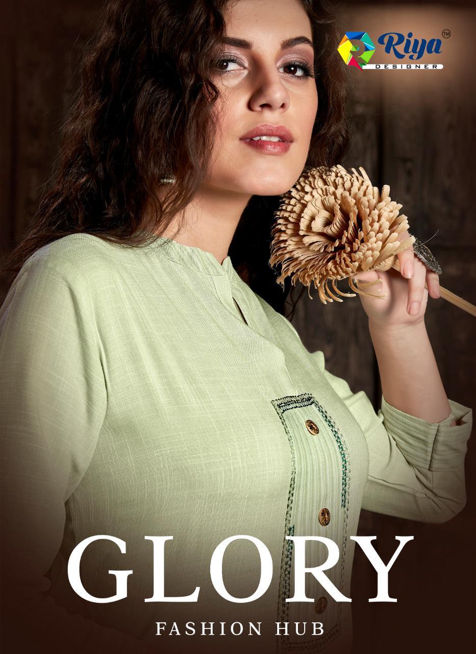 Glory Riya Designer Party Wear Heavy Work Kurti Witth Pants Full Stiched Wholesale