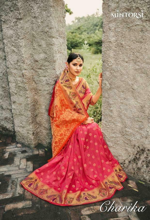 Charika Mintorsi Banarsi Silk Designer Sarees Wholesale