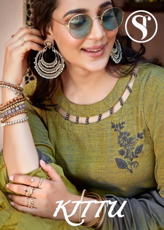 Sweety Fashion Kittu Rayon Designer Handwork Suits Wholesale