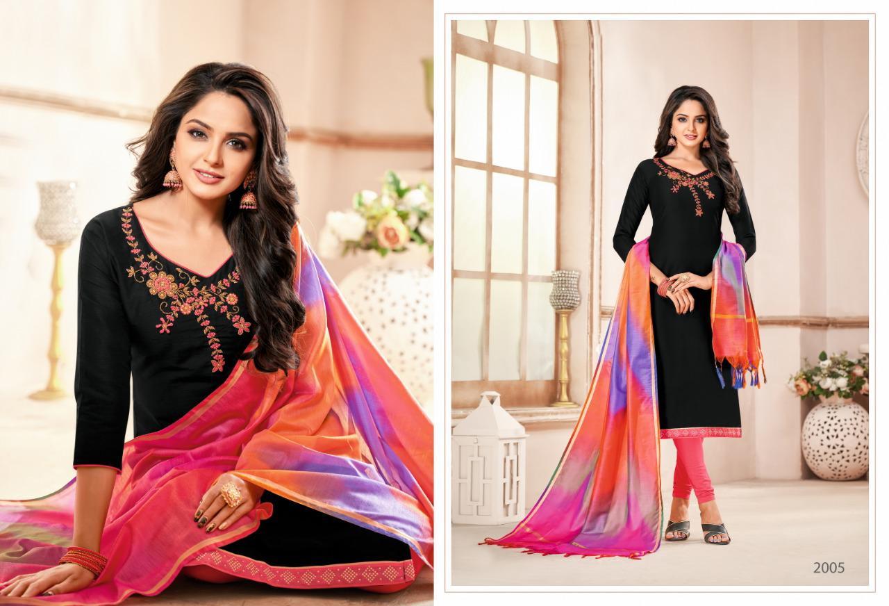 Shagun Rolex Vol 12 South Semi Cotton Banarasi Rainbow Designer Handwork Suits Wholesale