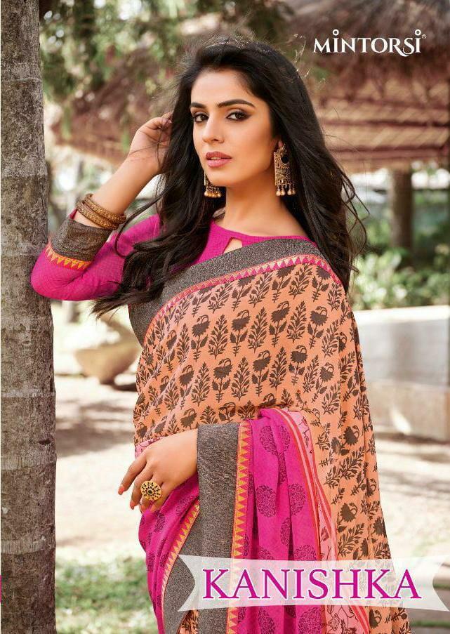 Mintorsi Kanishka Designer Georgete Heavy Work Sarees Wholesale Rate