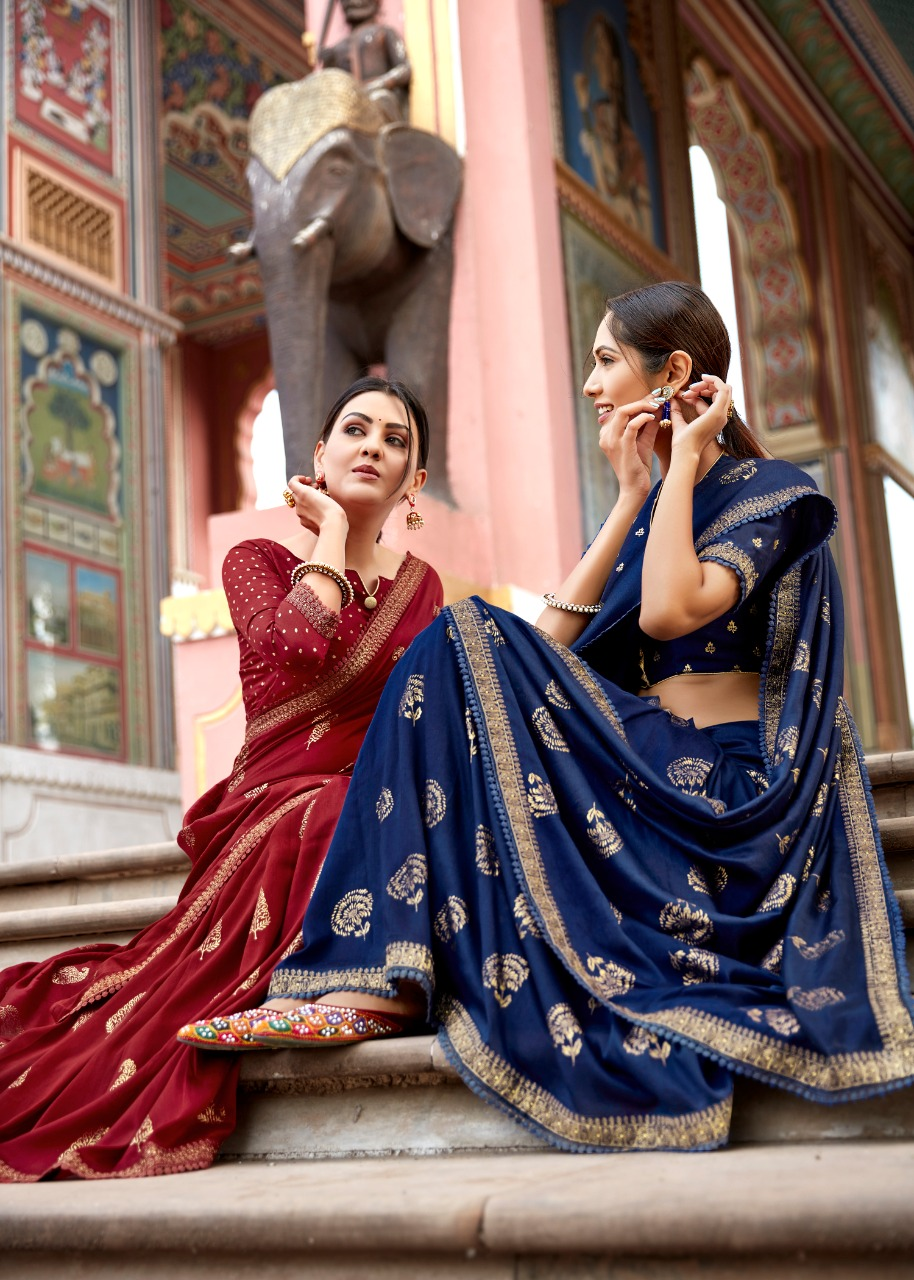 L.t. Fashions Pvt Ltd Khwaab Cotton Silk With Gold Print & Embroidered Lace Sarees Wholesale