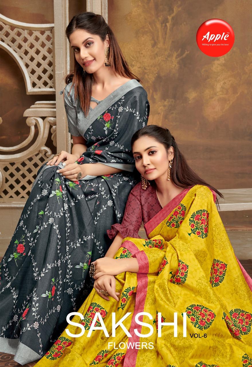 Sakhshi Vol 6 By Apple Saree Designer Party Wear Heavy Work Saree Wholesale