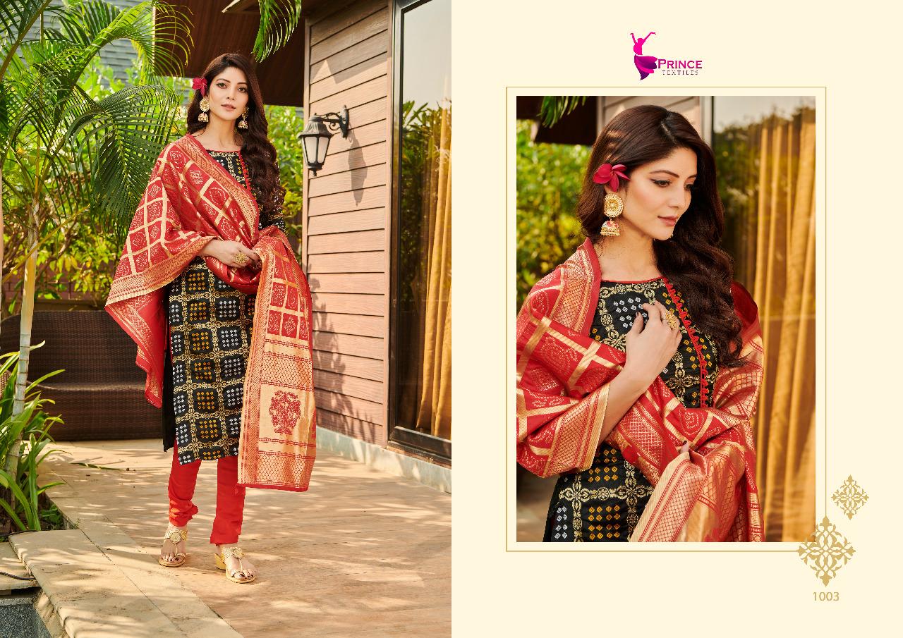 Banarsi Vol 1 Prince Textile Designer Heavy Embroidery Work Suits Wholesale