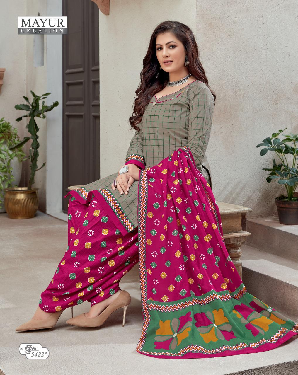 Mayur Creation Khushi Vol 54 Designer Cotton Printed Daily Wear Suits Wholesale