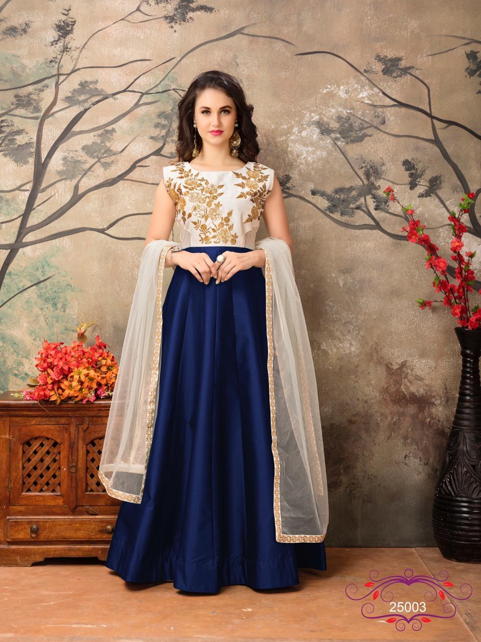 Aanaaya Vol 25 Designer Party Wear Heavy Embroidery Gowns Wholesale