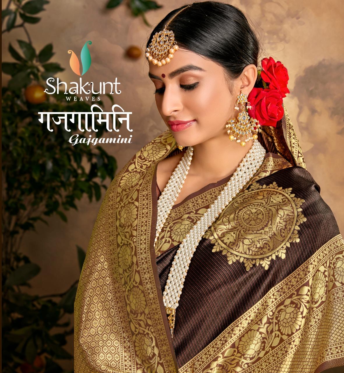 Shakunt Gajgamini Designer Art Silk Heavy Saree Wholesale